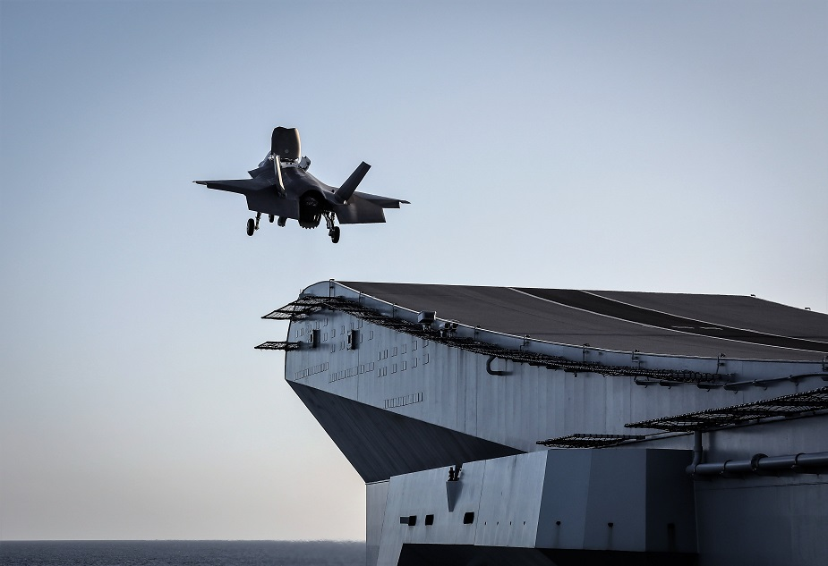 F 35B completes initial testing aboard HMS Queen Elizabeth