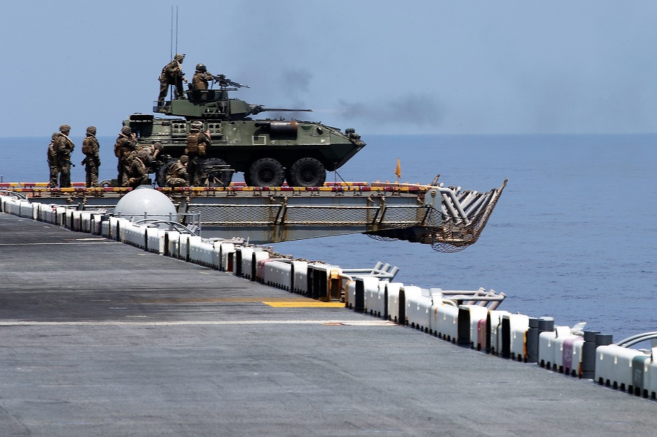 USS Wasp US Marines Conduct DATF Drill in South China Sea 1