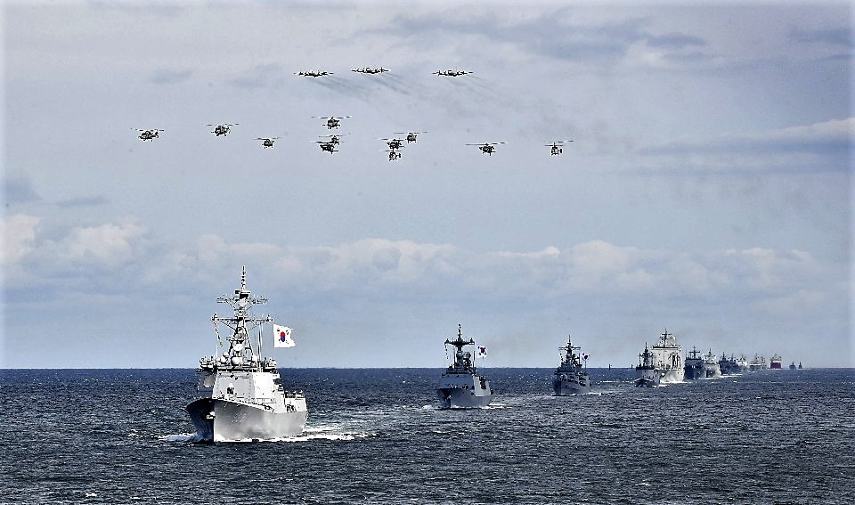 Video R.O.K Navys International Fleet Review in Jeju Island South Korea