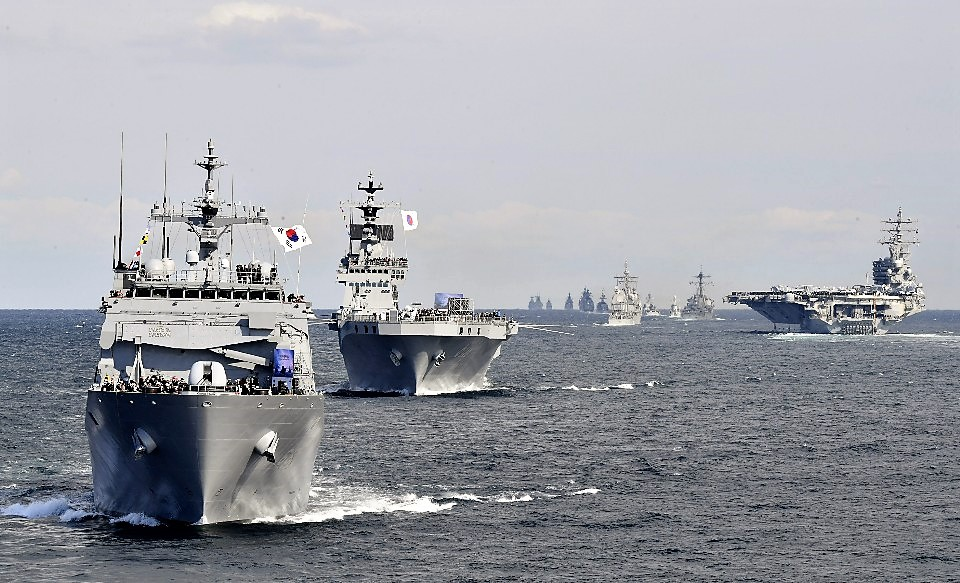 Video R.O.K Navys International Fleet Review in Jeju Island South Korea 2