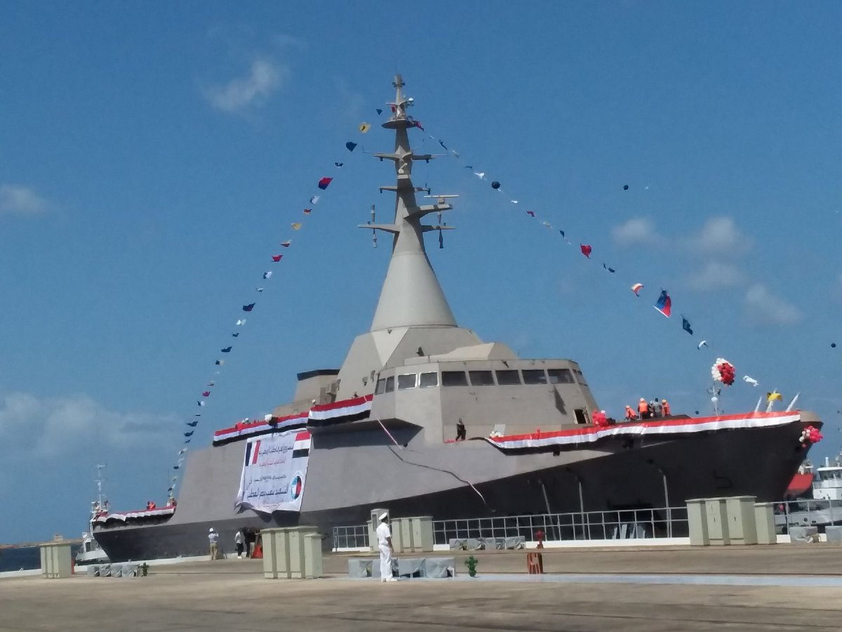 Launching of the first Gowind 2500 corvette built in Egypt