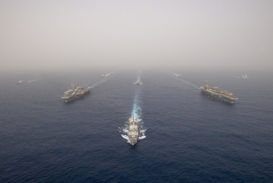 Two US aircraft carriers deployed in the Mediterranean Sea