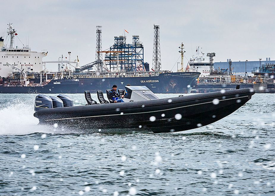 Live waterborne demonstrations on the Royal Docks at DSEI 2019 925 004