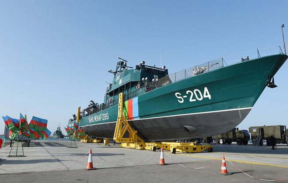 Azerbaijan has launched its new SBS ship afloat