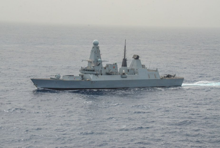 HMS Duncan patrols the Mediterranean Sea to prevent illegal activities