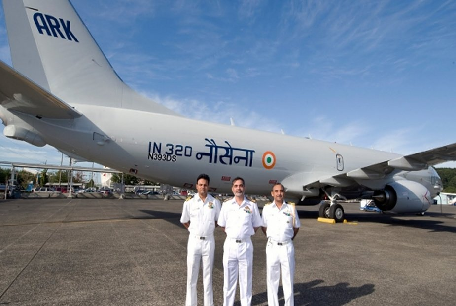Indian Navy P8I Poseidon monitors the Gulf of Aden to counter piracy