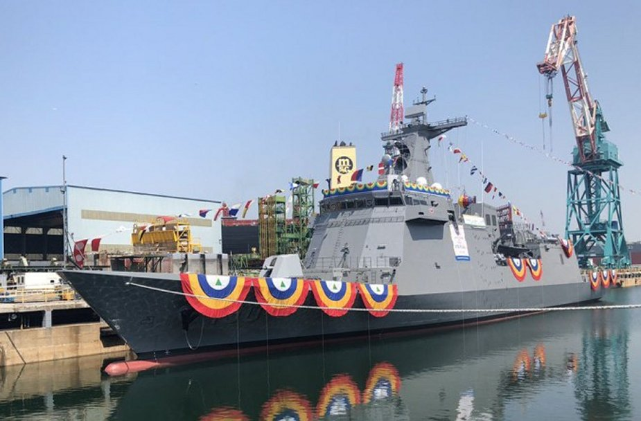 Hyundai Heavy Industries Launches second missile frigate for Philippine Navy 925 002