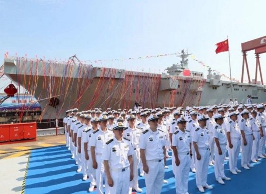 China launches first amphibious assault ship