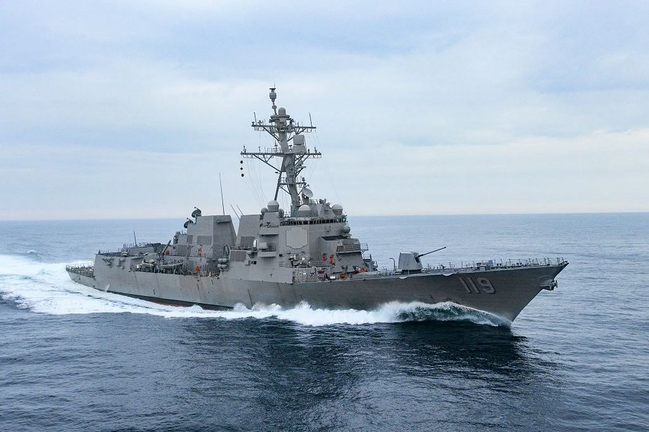 Huntington Ingalls has delivered Arleigh Burke class guided missile destroyer Delbert to US Navy 925 001