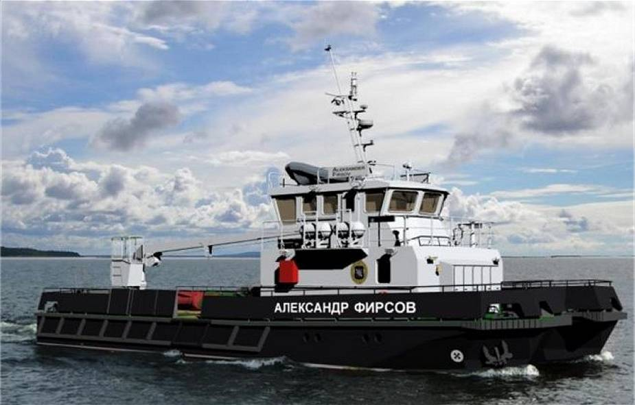 First stage construction of Russian Navy Project 23370G large hydrographic boat Alexander Firsov 925 001
