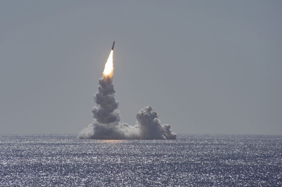 US Navy test fired a Trident 2 ballistic missile from the uss maine submarine