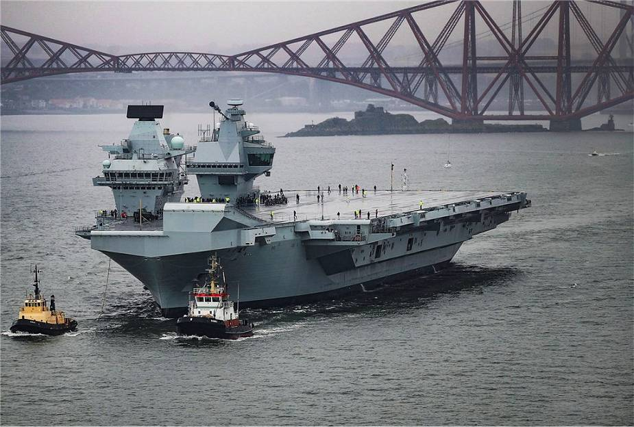 British Navy Queen Elizabeth class aircraft carrier will be used to test large unmanned aerial vehicles 925 001
