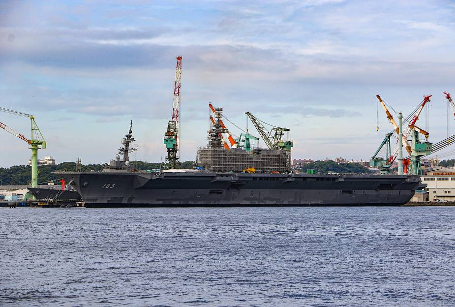 Japanese Navy JS Izumo DDH 183 in the latest modification phase to become aircraft carrier 925 001