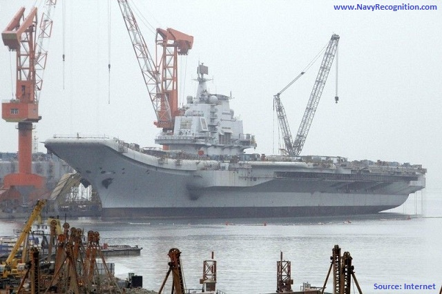 China's first aircraft carrier has begun its inaugural sea trial, the defence ministry said Wednesday.