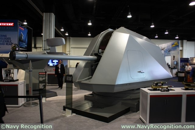 BAE Systems at the Navy League's 2015 Sea-Air-Space Exposition is showcasing for the first time a new 57mm guided projectile: The Ordnance for Rapid Kill of Attack Craft or ORKA (technical designation: MK295 MOD 1). The new round is designed to be shot from the 57mm MK110 fitted on both types of US Navy Littoral Combat Ships.