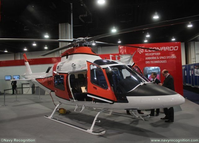 Leonardo-Finmeccanica introduced today an AgustaWestland AW119 single engine helicopter variant designated as the TH-119 during the Navy League Sea-Air Space Exhibition (Washington D.C., May 16-18). The aircraft is specifically designed for military training customers, primarily the U.S. Navy.