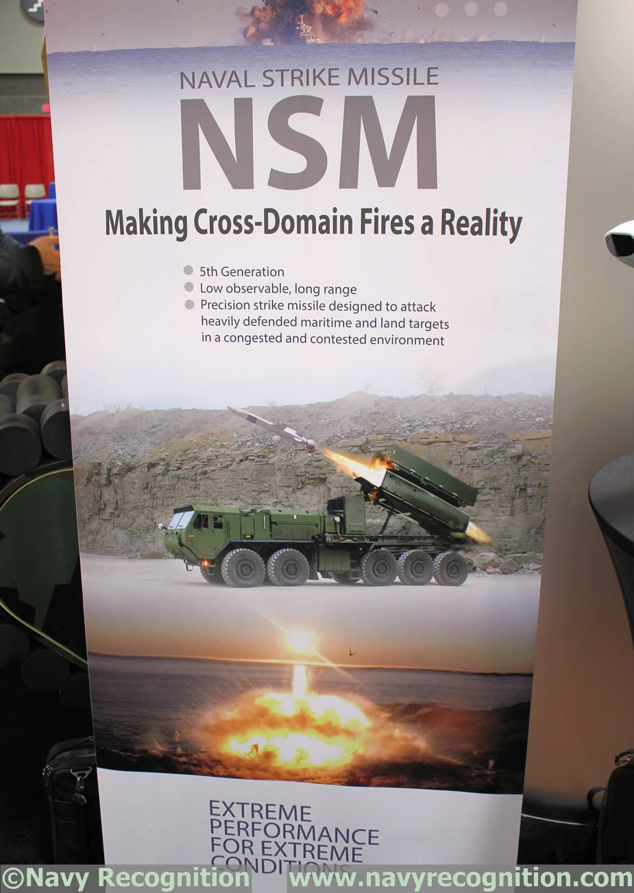 NSM anti ship missile to be tested from US Army HEMTT during RIMPAC 2018 2
