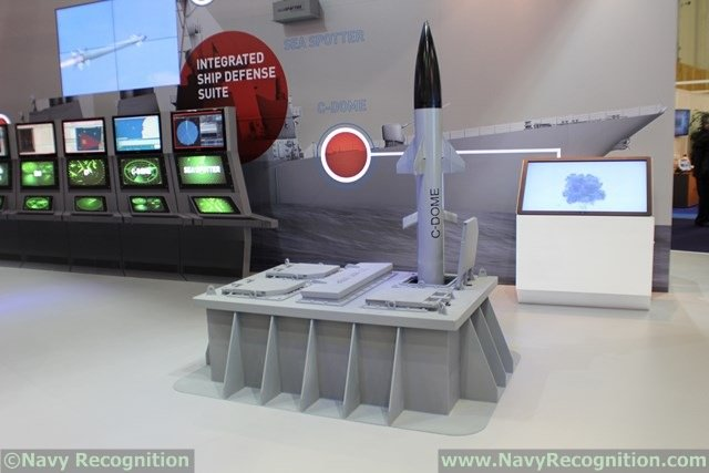The next step will consist in testing the C-DOME Naval Point Defense System from a ship VLS at sea. C-DOME, the naval variant of Iron Dome was unveiled at Euronaval 2014.