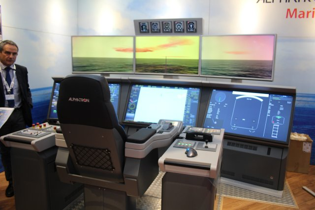 At Euronaval 2016 Alphatron Marine swhocased its one man bridge 001