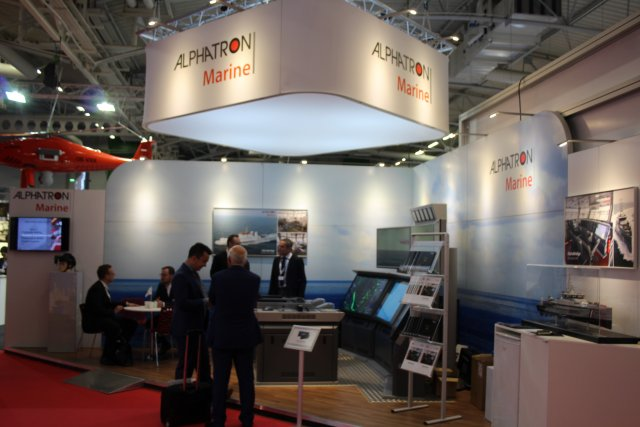At Euronaval 2016 Alphatron Marine swhocased its one man bridge 003