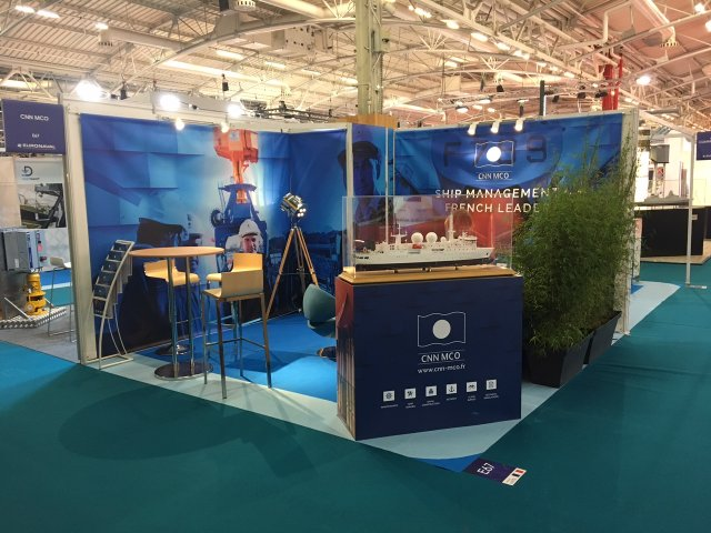 CNN MCO the French leader in Ship Management presented its services at Euronaval 2016 002