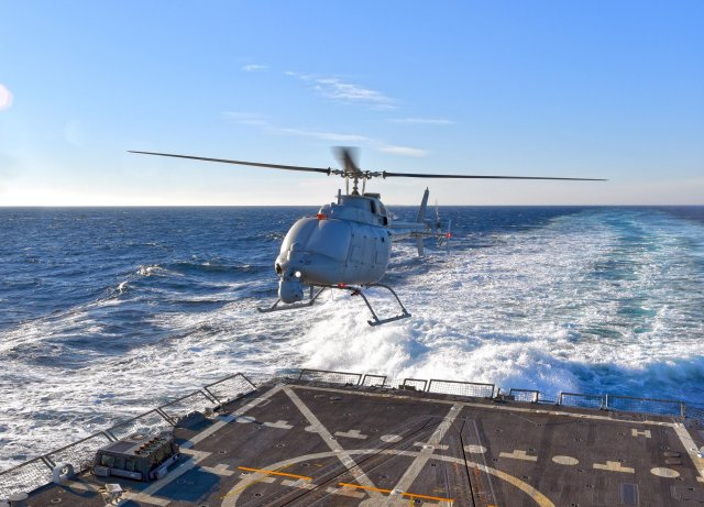 Euronaval 2016 Leonardo to fit its Osprey AESA radar on US Navy MQ 8C UAV 640 001