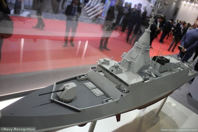Euronaval 2016 DCNS officially introduces BELH RRA front line digital frigate 640 001