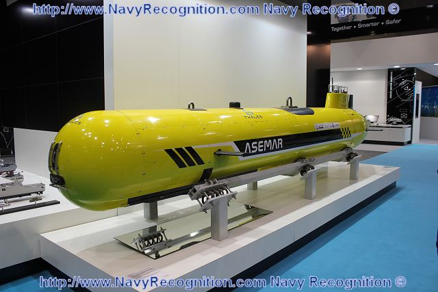 Underwater mines are readily obtainable by large numbers of armed groups and remain a formidable threat in asymmetric warfare. They can block access to harbours and cause serious economic harm to an entire country. To respond to these new threats, the French Company Thales has developed with several partners, the ASEMAR an autonomous underwater unmanned vehicle for maritime surveillance and security.