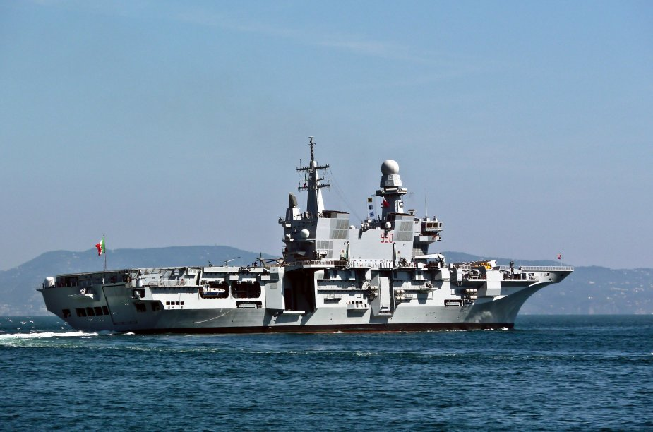 Conte di Cavour Aircraft Carrier Italian Navy Technical Data 925 003