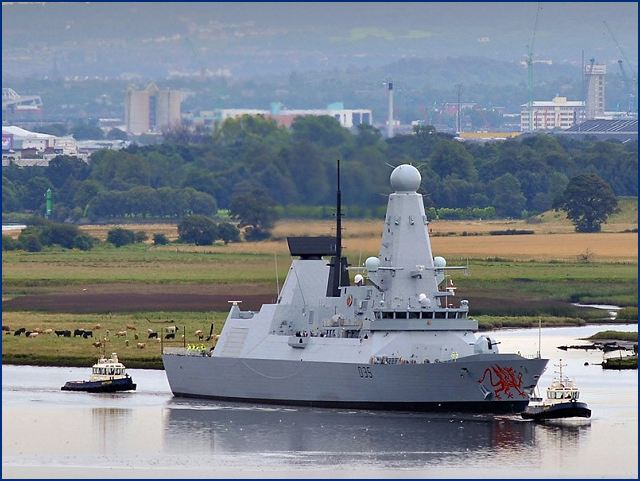 Portsmouth, United Kingdom: DRAGON, the fourth Type 45 anti-air warfare destroyer built by BAE Systems for the Royal Navy, has arrived in Portsmouth Naval Base, where she will be handed over to the Ministry of Defence (MOD) at a ceremony today.