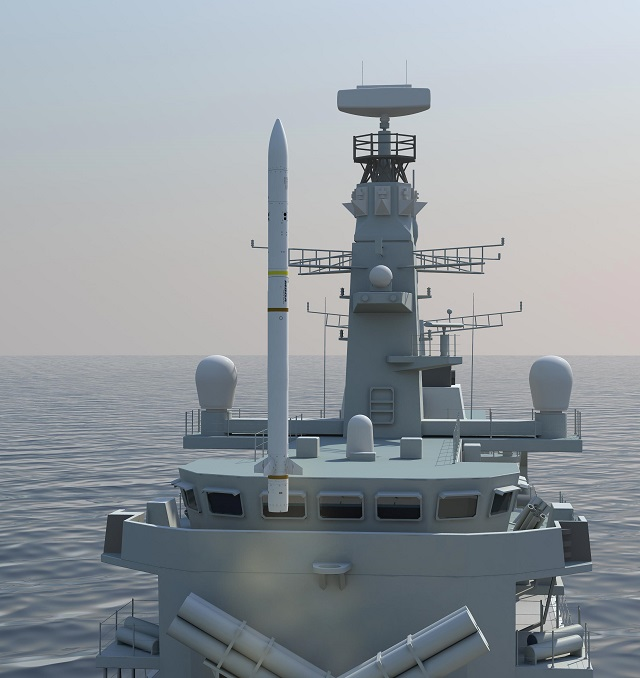 On the 9th September 2013, MBDA received a £250M production contract from the UKMinistry of Defence (MOD) for the delivery of the Sea Ceptor air defence weapon system that comprises of the Common Anti-air Modular Missile (CAMM) and system equipment. Sea Ceptor will initially equip the Royal Navy's (RN) Type 23 frigates from 2016 onwards replacing Seawolf and then be integrated into the Type 26 frigates as the primary air defence system.