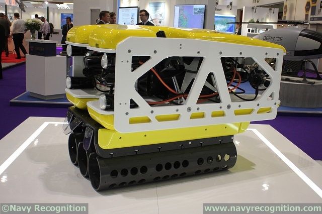 Multi-Shot Mine Neutralisation System (MuMNS) on Saab stand at DSEI 2015