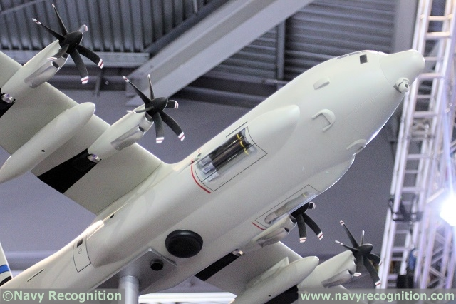 Detailed view: Up to 3 torpedo may be fitted in a conformal sponson. The SC-130J is fitted with an underbelly radar and EO/IR sensor under the nose.