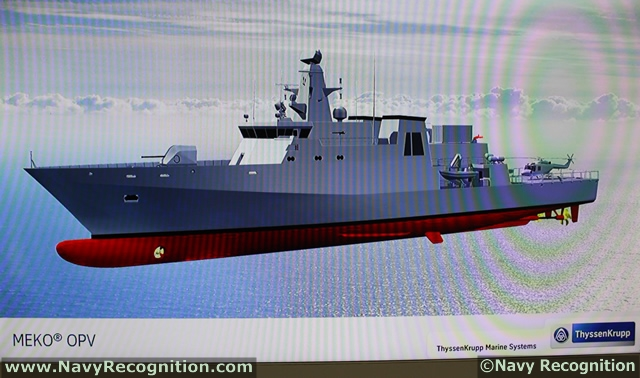 TKMS MEKO OPV as shown during Indo Defence/Indo Marine 2012