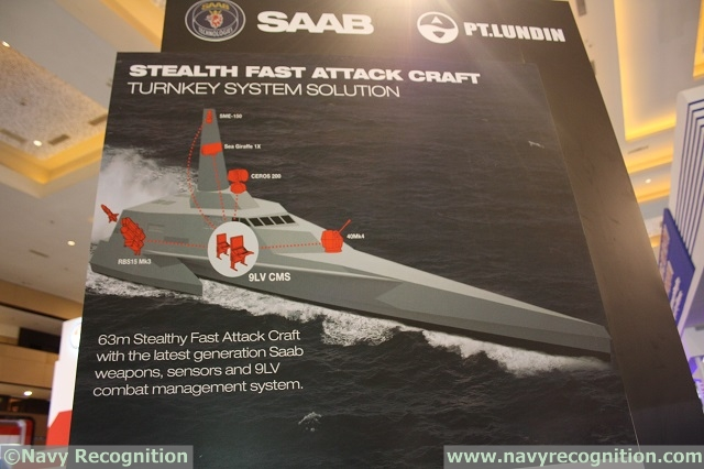 TNI AL's sealth FACs will be fitted with the latest sensors, weapons and CMS from Saab