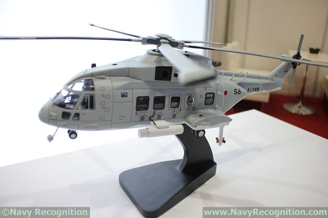 MAST Asia 2017: Kawasaki Heavy Industries Showcasing MCH-101 Mine Warfare Helicopter