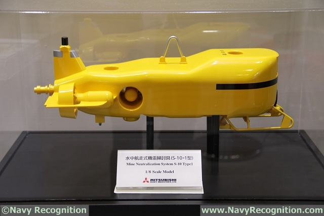 MAST Asia 2017: MHI Showcasing its S-10 Mine Hunting UUV