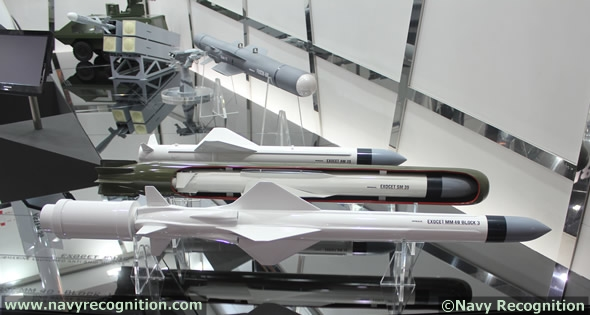 EXOCET probably ranks as the world's best known anti-ship missile. It is in service with leading navies around the world in its air, surface and submarine launched variants. In 2010, the Royal Malaysian Navy test fired an EXOCET SM39 from its KD Tunku Abdul Rahman Scorpene submarine. The missile was fired at a depth of 55 metres exploiting a major advantage of the SM39 which unlike other such weapons, does not require the sub to rise to periscope depth (and potential danger) before launching the attack. At LIMA the MBDA stand showcases the entire EXOCET family including a model of the latest development, MM40 Block 3 which is a 200km class anti-ship weapon with an added littoral land target capability.
