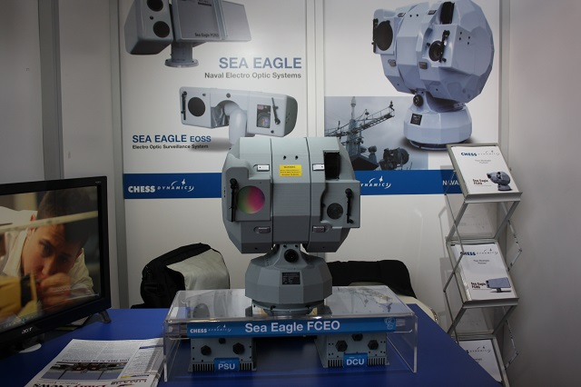 At the Langkawi International Maritime & Aerospace exhibition, LIMA 2015 held in Malaysia last week, British company Chess Dynamics showcased the Sea Eagle FCEO naval electro optic fire control system. Sea Eagle FCEO employs an advanced electro optical sensor suite to provide 24 hour target acquisition, tracking and gun engagement. Variants of the system are operational with a number of navies around the world, including the Royal Navy.