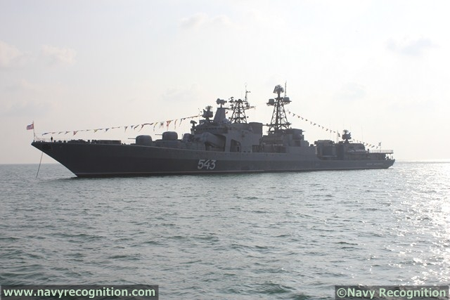 Marshal Shaposhnikov Udaloy I-class destroyer at LIMA 2013