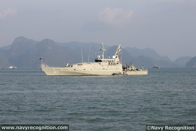 HMAS Maryborough Armidale-class patrol boat at LIMA 2013