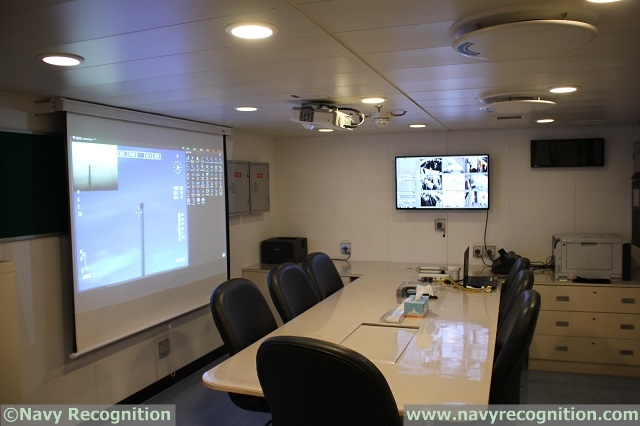 The briefing and command room aboard RSS Independence