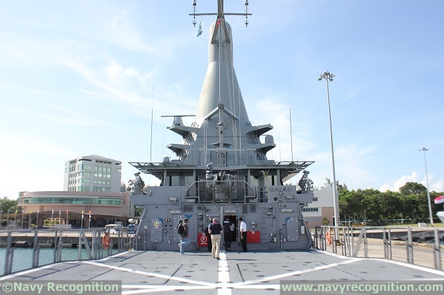 RSS Independence's helicopter deck