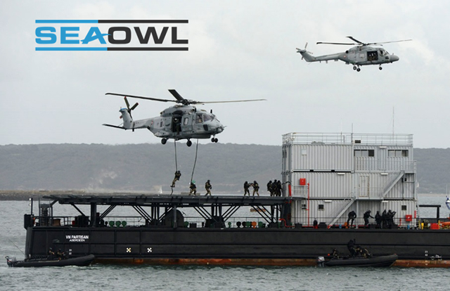 SeaOwl is a leading European service provider specialised in Navy training support services for the Navy and Defense industries. SeaOwl's capabilities encompass the design and delivery of bespoke training services across a wide sphere of navy operations. SeaOwl supplies navies through service contracts, accredited personnel and customised vessels to perform training exercises with the various units of their fleet (surface ships, submarines, naval aviation, commandos).
