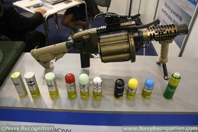 At the 13th Baltic Military Fair BALT-MILITARY-EXPO 2014 currently held in Gdansk, Poland, ZM Tarnow (a member of Polish Defense Holding PHO) showcases its 40mm multi-shot grenade launcher with a special anti-diver grenade ammunition from Arcus Co.