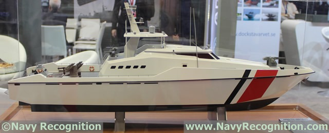 "The ""ARES 110 Hercules"" multi-role patrol craft model at DIMDEX 2014"