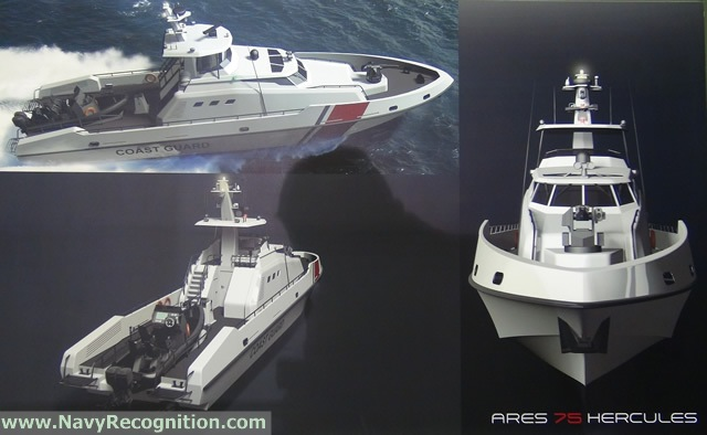 "The ""ARES 75 Hercules"" multi-role patrol craft"
