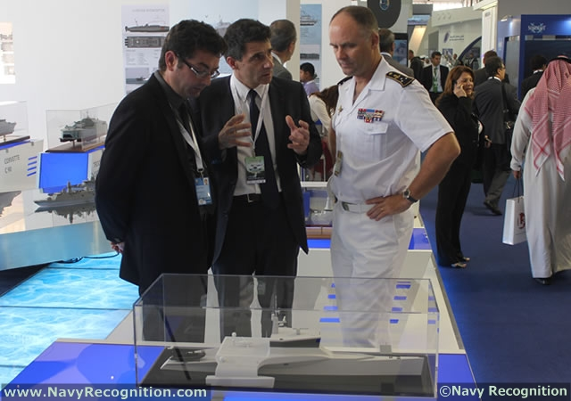 Cherbourg (France) based shipyard CMN unveiled its latest concept during NAVDEX 2013 in Abu Dhabi: The Ocean Eagle 40 trimaran patrol craft. Specifically designed for anti-piracy and counter-terrorism operations, the Ocean Eagle 40 is capable of both high speeds and long endurance.