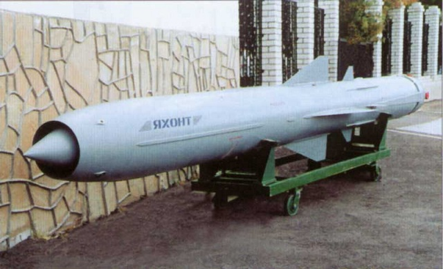 3M55 P-800 Oniks (Onyx) anti-ship missile (NATO reporting name: SS-N-26 Strobile)