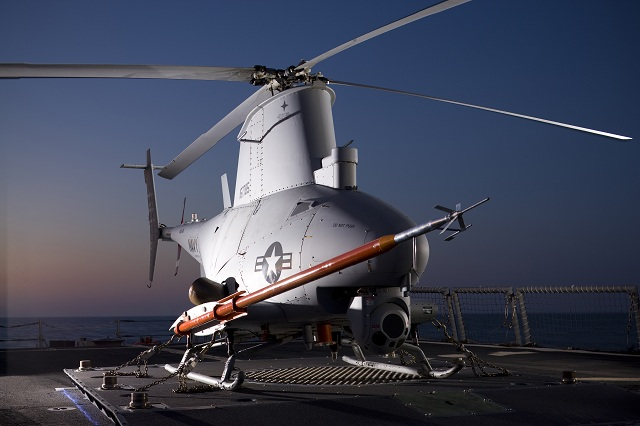 Northrop Grumman Corporation (NYSE:NOC) has started work outfitting the U.S. Navy's MQ-8B Fire Scout unmanned helicopter with a weapons system. The Advanced Precision Kill Weapons System laser-guided 70mm rocket -- in production for the Navy since 2010 -- will allow ship commanders to identify and engage hostile targets without calling in other aircraft for support.